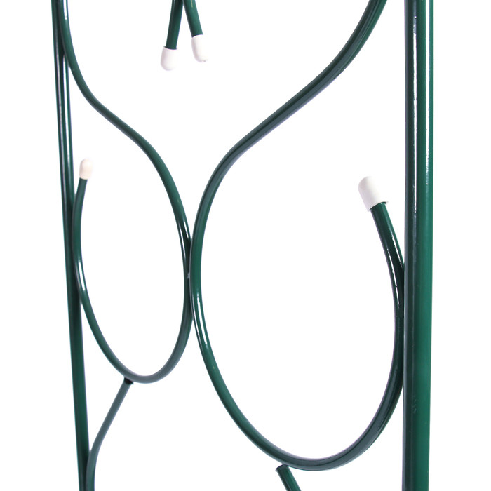 Арка садовая, разборная, 230 × 120 × 51 см, металл, зелёная - фото 2