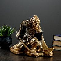 """Фигура """"Самурай"""" бронза-серебро 32х20х25см"""