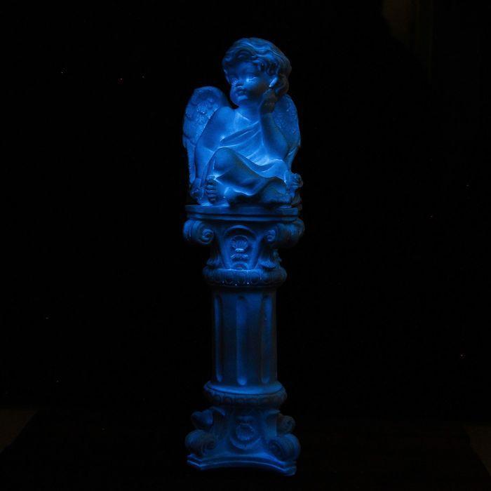 """Светящаяся фигура """"Ангел сидя на колонне"""" 51см"""