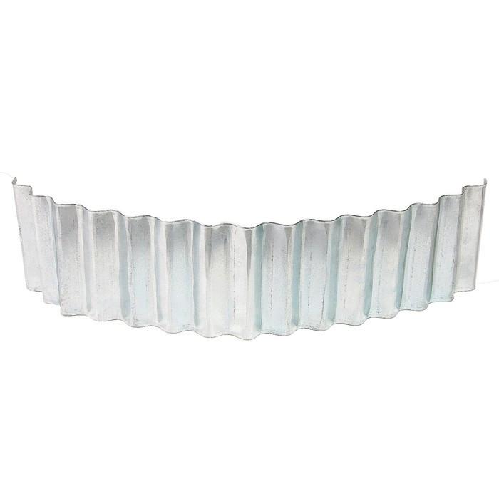 Ограждение для клумбы, 110 × 24 см, оцинкованное, «Волна»