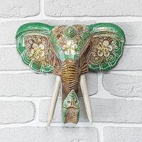 """Сувенир дерево """"Голова слона"""" 28х26х10,5 см, фото 1"""