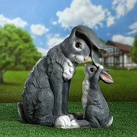 """Садовая фигура """"Зайчиха и зайчонок"""" 34х36см, фото 1"""