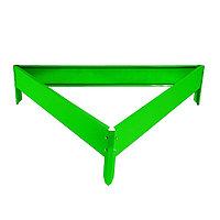 Клумба оцинкованная, 50 × 15 см, ярко-зелёная, «Терция»