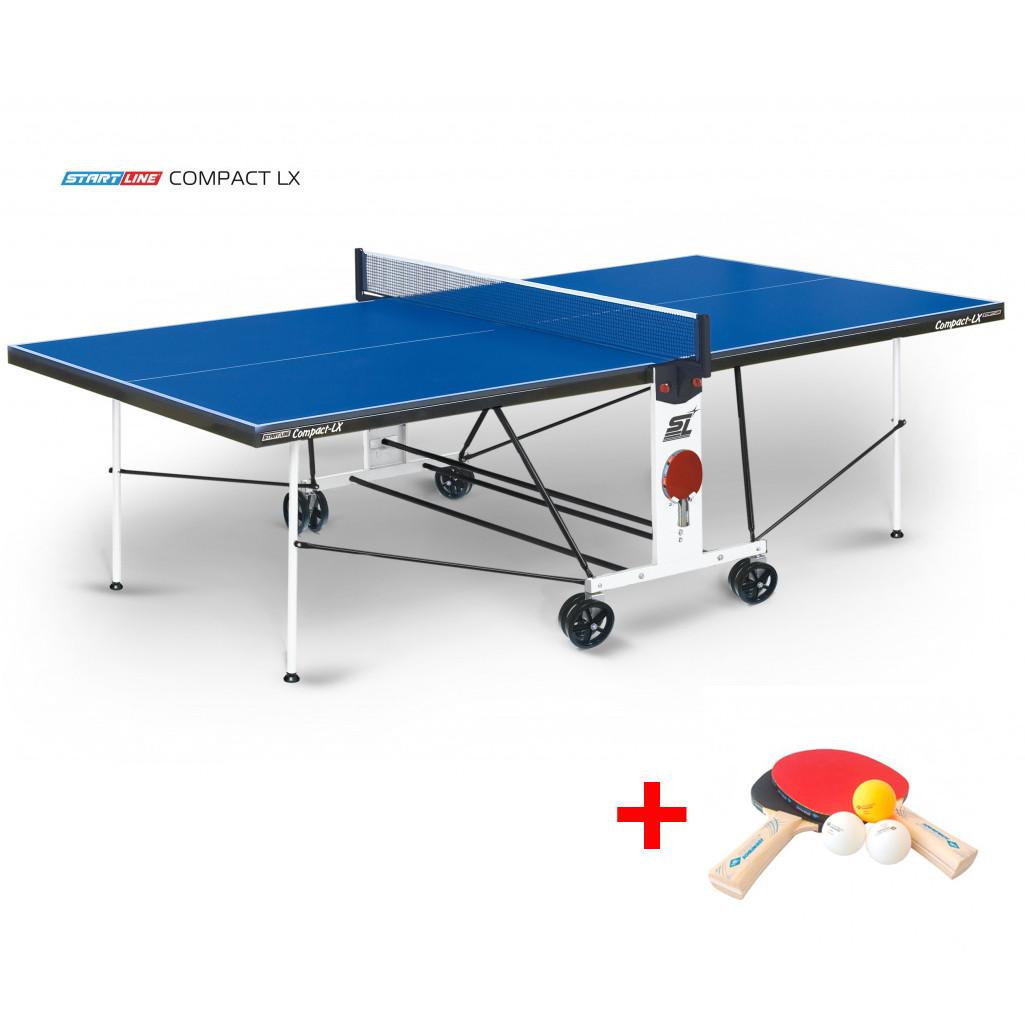 Теннисный стол Compact LX - усовершенствованная модель стола для использования в помещениях с сеткой