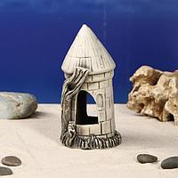 Декорация для аквариума ''Башня'', 7 х 7 х 15 см, микс