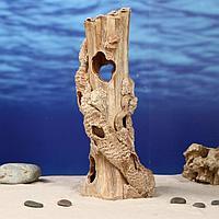 """Декорация для аквариума """"Колонна"""", 13 х 13 х 31 см, микс"""