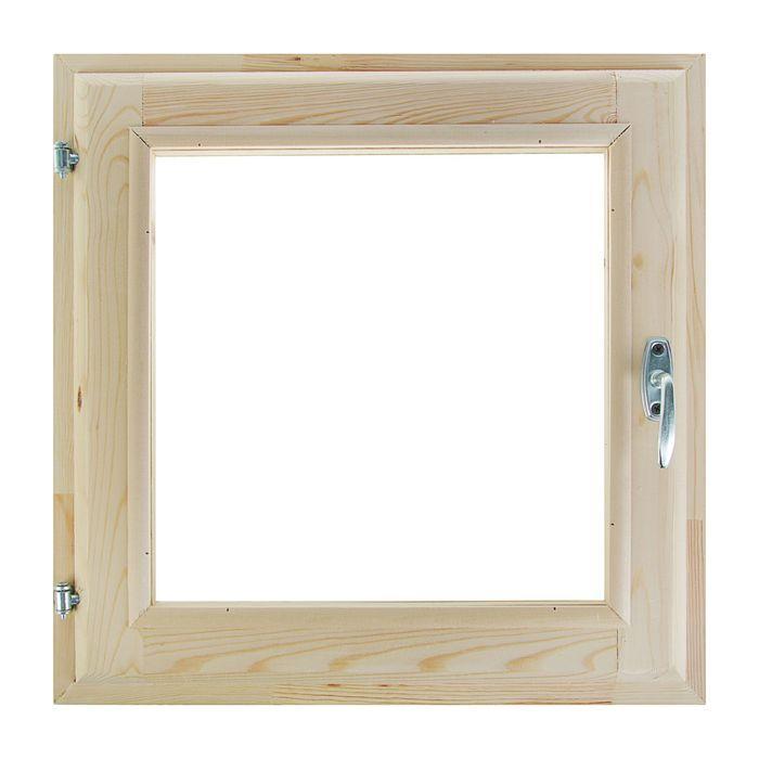Окно, 50×50см, двойное стекло, из хвои - фото 1