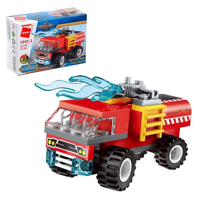 Конструктор Пожарные «Транспорт», 8 видов МИКС - фото 3