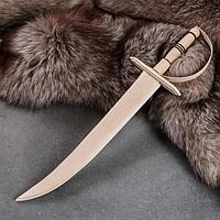 """Сувенирное оружие """"Сабля"""", деревянное, 46 см, массив бука"""