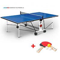 Теннисный стол Compact Outdoor 2 LX- всепогодный стол для использования на открытых площадках с сеткой, фото 1