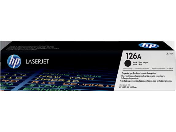 HP CE310A Картридж лазерный HP 126A черный, ресурс 1200 стр.