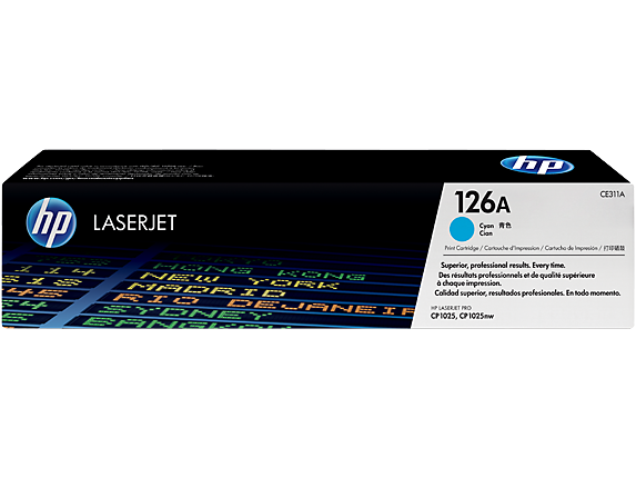 HP CE311A Картридж лазерный HP 126A голубой, ресурс 1000 стр