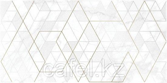 Кафель | Плитка настенная  30х60 - Калакатта | Calacatta вставка геометрия