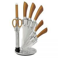Набор ножей из 8 предметов с подставкой, золотой металлик