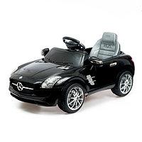 Электромобиль MERCEDES-BENZ SLS, с радиоуправлением, свет и звук, цвет черный
