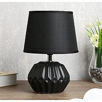 """Лампа настольная """"Фавия"""" 1х40Вт Е14 черный 20х20х28 см."""