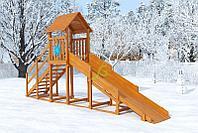 """Зимняя горка """"Снежинка""""с крышей , скат 4 м, фото 1"""