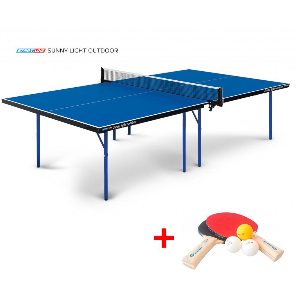 Теннисный стол Sunny Outdoor - очень компактная модель всепогодного теннисного стола