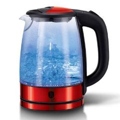 Электрический стеклянный чайник, metallic line burgundy edition