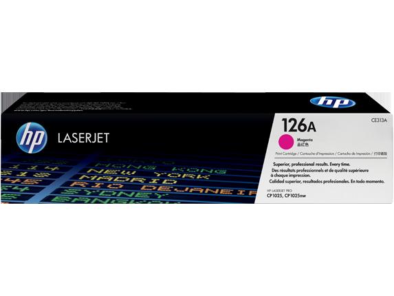 HP CE313A Картридж лазерный HP 126A пурпурный, ресурс 1000 стр
