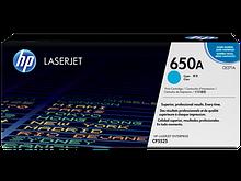 HP CE271A Картридж лазерный HP 650A голубой, ресурс 15000 стр