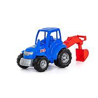 Трактор «Чемпион» синий с лопатой (в сеточке)
