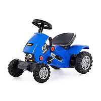Каталка-трактор с педалями «Turbo-2» (синяя)