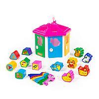 Детская развивающая игрушка «Логический домик» (в сеточке)