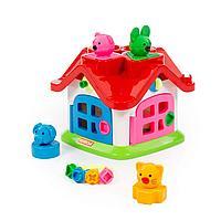 Детская развивающая игрушка «Логический теремок» (в сеточке)