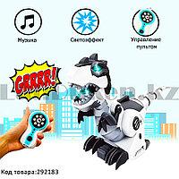 Игрушка Робот Динозавр Рекс на батарейках рычащая музыкальная на радиоуправлении Mechanical Dinosavr 128А-21