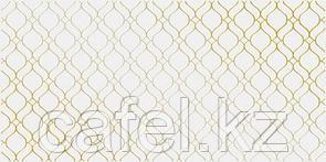Кафель | Плитка настенная 30х60 Деко | Deco вставка золотистый