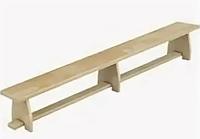 Скамья гимнаст. дер.ножки 350х23х25см