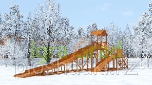 Зимняя горка IgraGrad Snow Fox 12 м с двумя горками