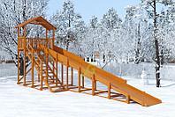 Зимняя горка IgraGrad Snow Fox (Домик), скат 10 м, фото 1
