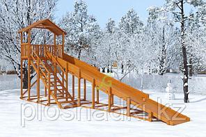 Зимняя горка IgraGrad Snow Fox (Домик), скат 10 м