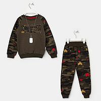 Комплект для мальчика, цвет хаки/камуфляж, рост 110 см
