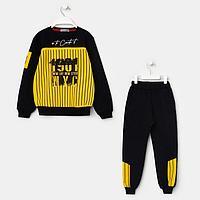 Комплект для мальчика, цвет чёрный/жёлтый, рост 98 см