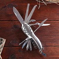 Нож швейцарский 11в1 рукоять перфорированная, фото 1