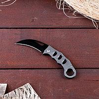 Нож-керамбит серебристый, лезвие 7,5 см