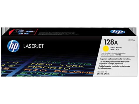 HP CE322A Картридж лазерный HP 128A желтый, ресурс 1300 стр.