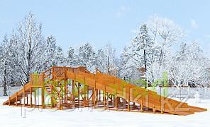 Зимняя горка IgraGrad Snow Fox, 4 горки