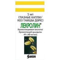Лекролин кап.глазн. 4% (40мг/мл) 5 мл / Сантен АО, Финляндия