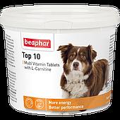 Кормовая добавка Топ10 с L-карнитином для собак со вкусом креветок, Beaphar - 750 табл.