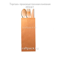 Пакет крафт для столовых приборов 80*220 мм (2000 шт/кор)