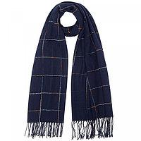 Палантин женский текстильный, цвет синий, размер 70х190