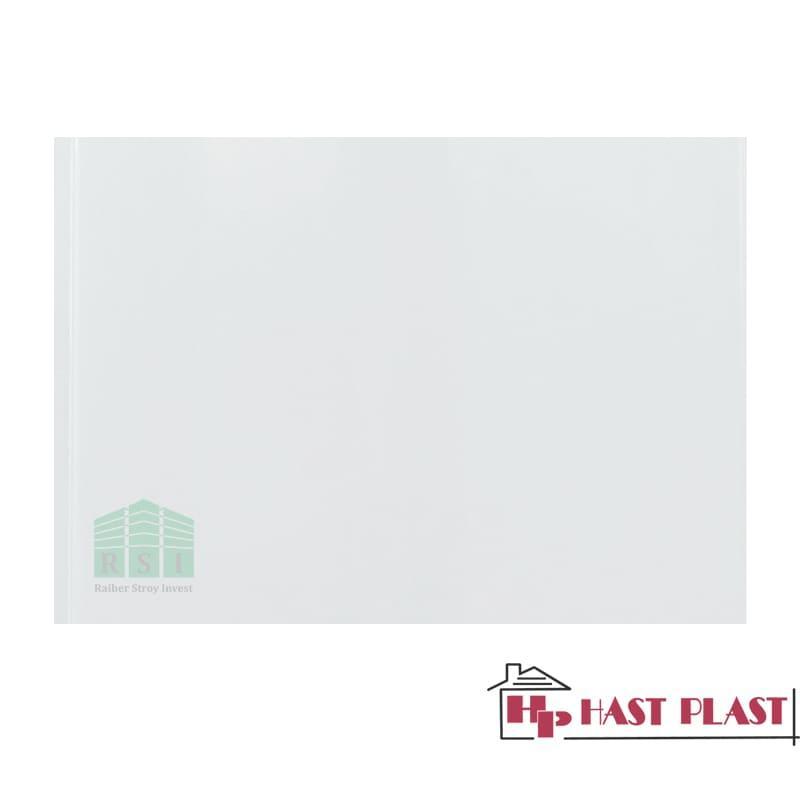 """Потолочная ПВХ панель """"Hast Plast"""" 4 метра (белый глянцевый)"""