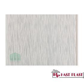 """Стеновая ПВХ панель """"Hast Plast"""" 4 метра (серый дождь глянцевый)"""