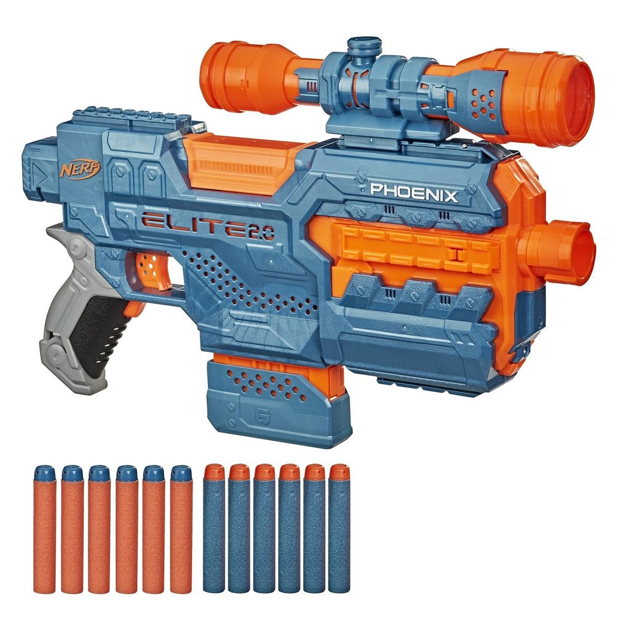 Hasbro Nerf N-Strike Elite 2,0 Автоматический Бластер Нерф Феникс ЦС-6 с прицелом (Phoenix CS-6)