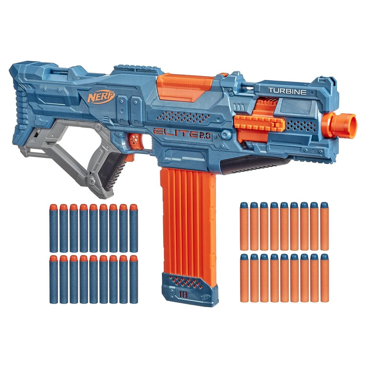 Hasbro Nerf N-Strike Elite 2,0 Автоматический Бластер Нерф Турбина ЦС-18 (Turbine CS-18)
