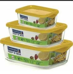 Набор прямоугольных контейнеров для пищи LUMINARC Keep'n'Box
